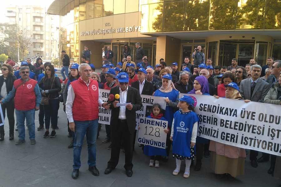 Aydın Büyükşehir Belediyesi'nde işçilerin sendika hakkı tanınmıyor