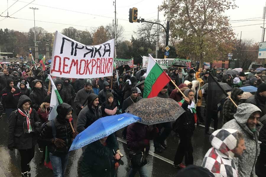Bulgaristan'da yoksulluğa karşı protestolar sürüyor
