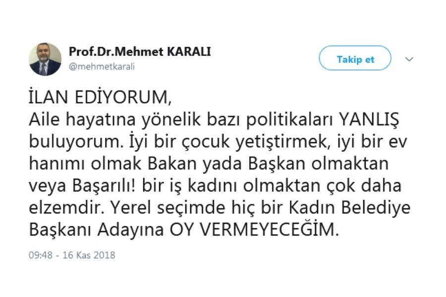 DEKAN KARALI İSTİFA ETTİ
