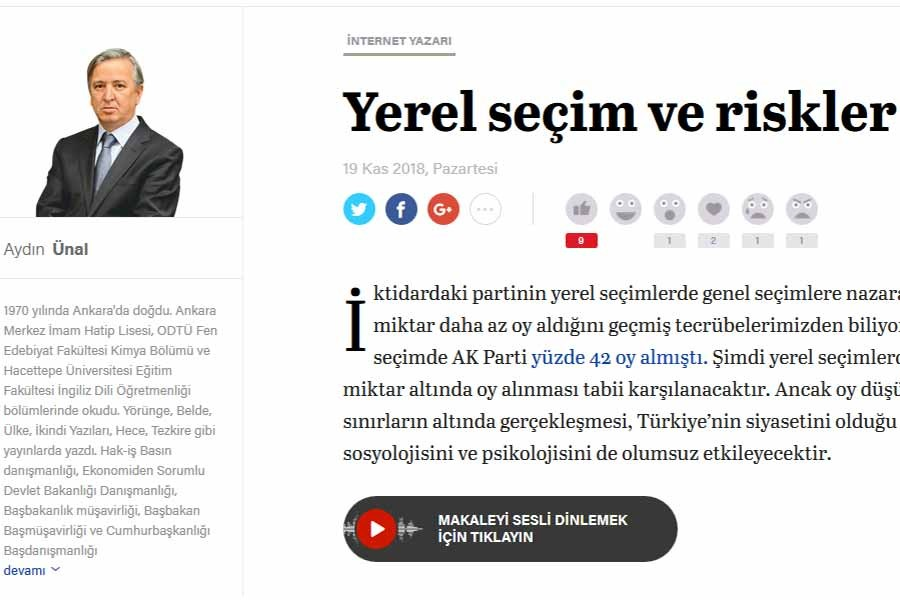 Yeni Şafak yazarı: AKP tabanı haberleri muhalif kaynaklardan izliyor