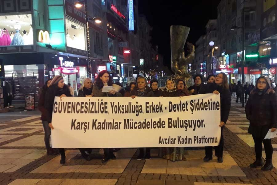 Avcılar'da kadınlar 25 Kasım'a çağrı yaptı