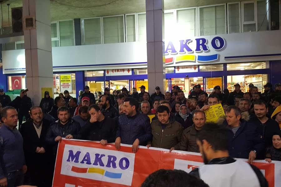Makro Market işçileri: Seçimlerde biz de size sahip çıkmayacağız