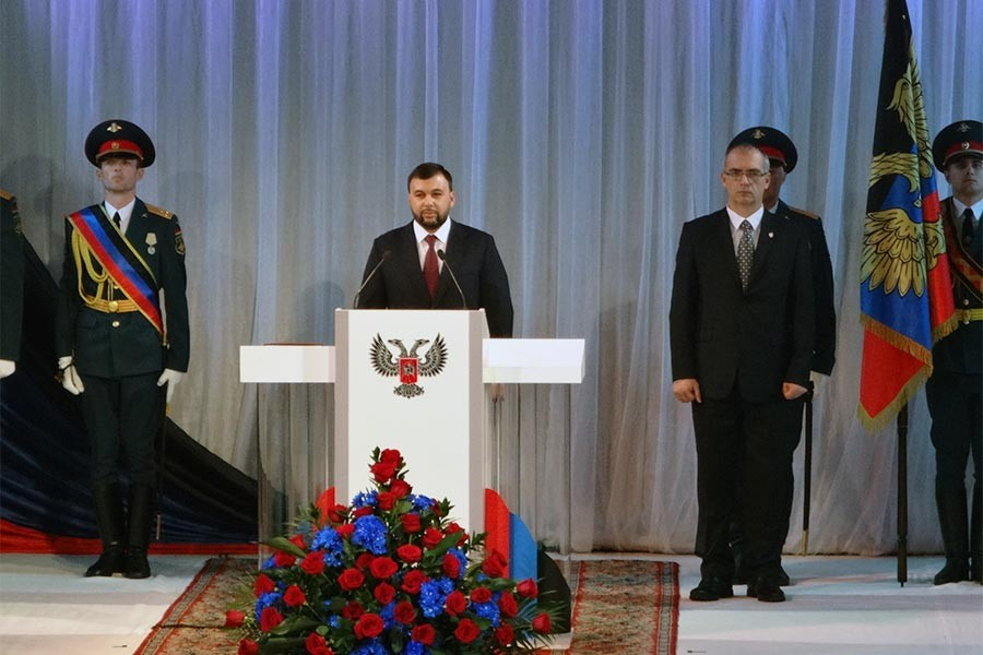Donetsk'te Denis Puşilin resmen devlet başkanı