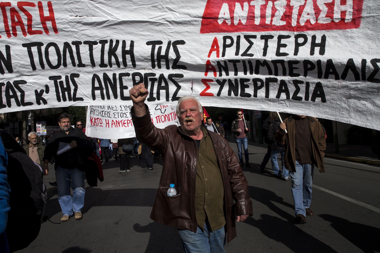 Yunanistan'da emekçiler greve gitti, hayat durdu