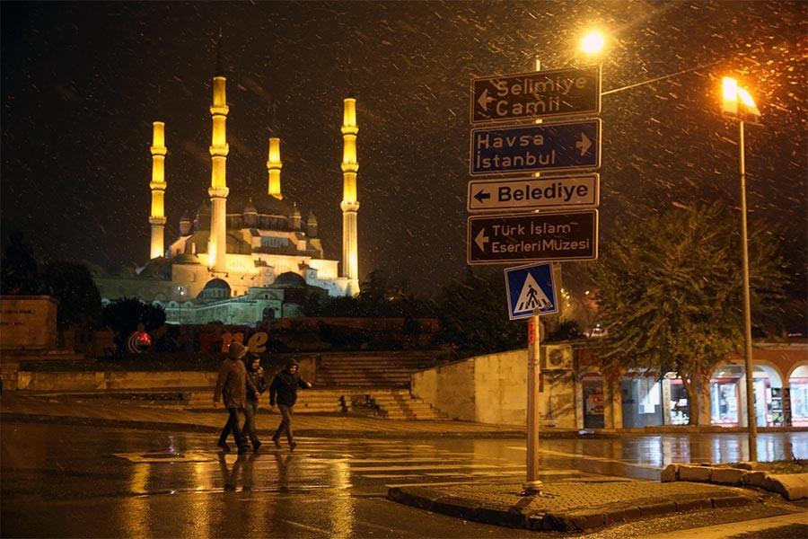 Edirne'nin ardından Tekirdağ'da da kar yağışı başladı