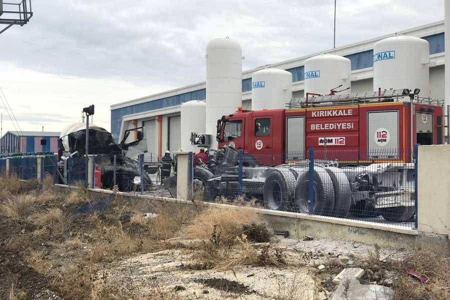 Kırıkkale Organize Sanayi Bölgesi'nde gaz dolum tesisinde patlama