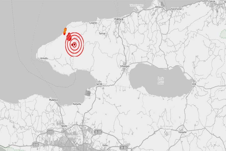 Yalova'da 4,1 büyüklüğünde deprem