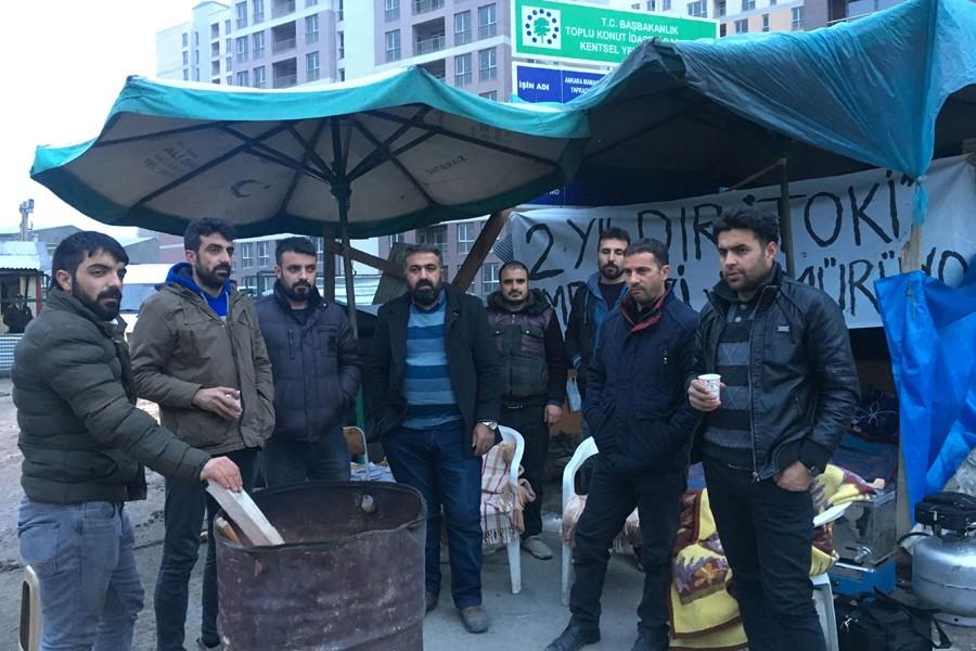 Gözaltına alınan TOKİ işçileri serbest bırakıldı
