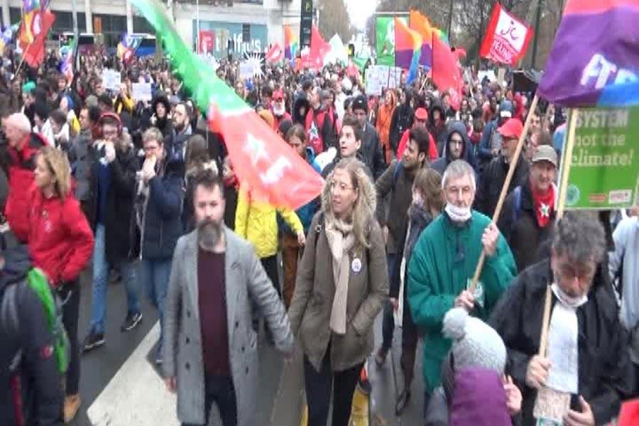 Brüksel'de hükümetin çevre politikaları protesto edildi