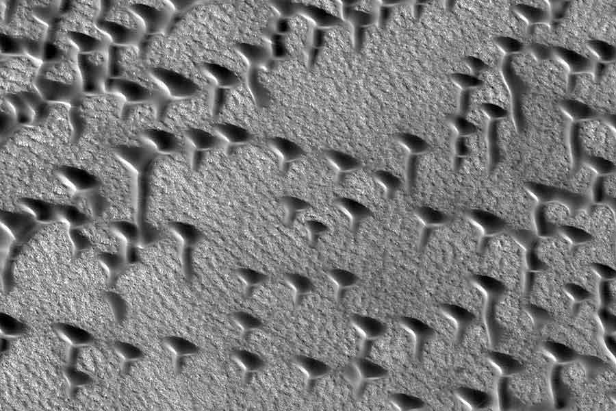 NASA, Mars'taki kum tepelerini görüntüledi