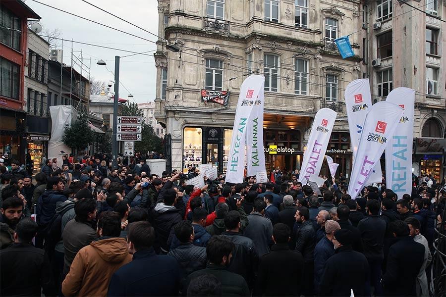 Saadet Partililerin yürüyüşü polislerce engellendi