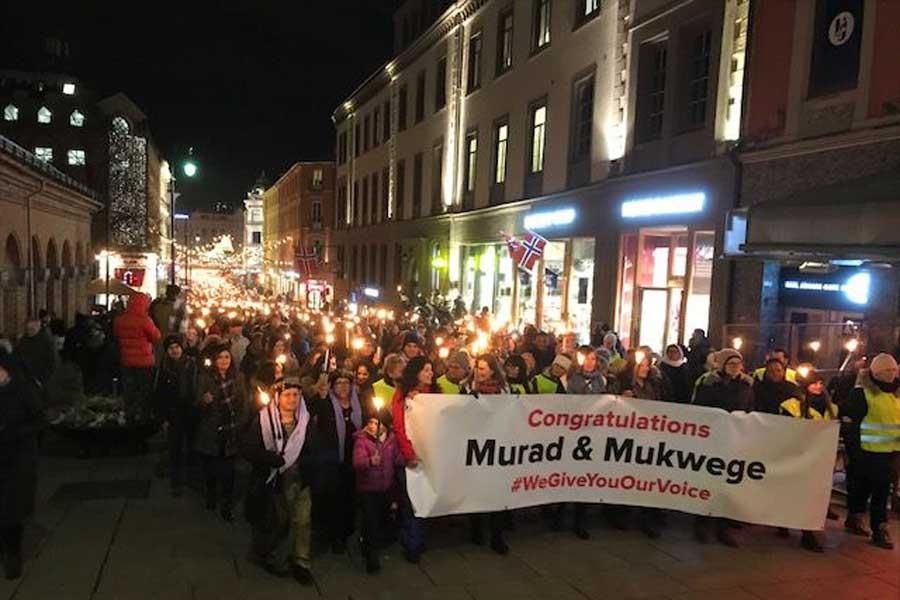Norveç'te Nobel eylemi: Artık barış istiyoruz!