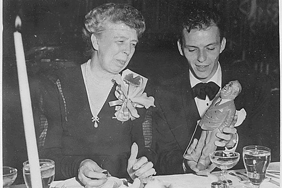 Eleanor Roosevelt ve Frank Sinatra