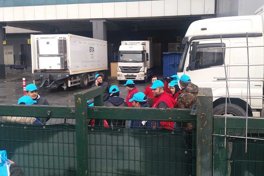 Liman-İş, BTA'da işçilere baskıları protesto etti