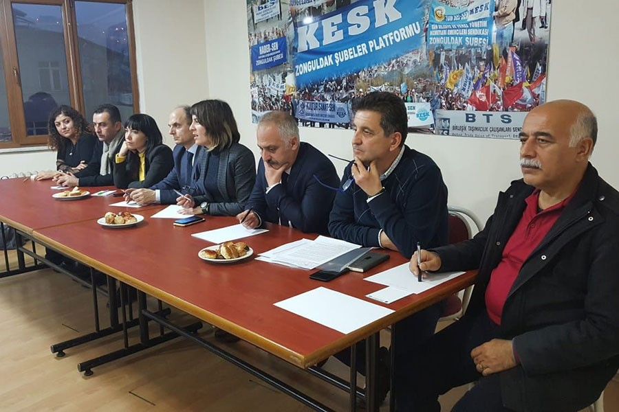 KESK heyeti, Zonguldak'ta İstanbul mitingine çağrı yaptı