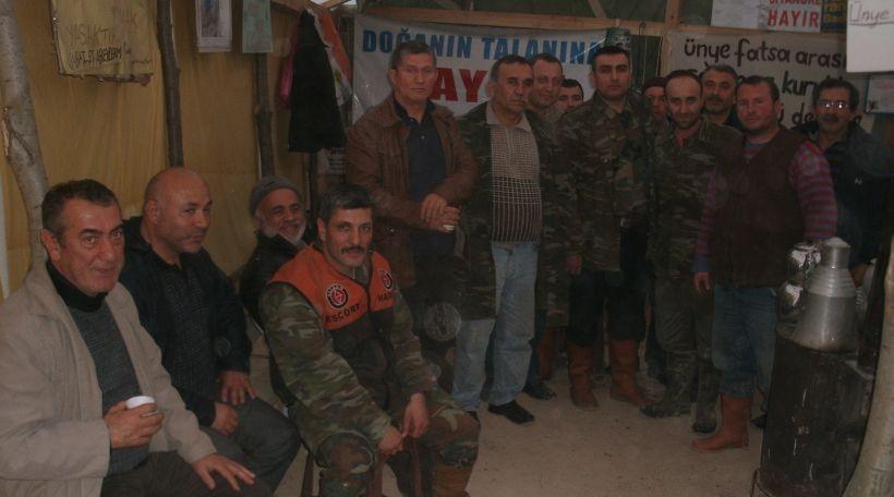 EMEP, yaşam savunucularının direniş çadırlarını ziyaret etti