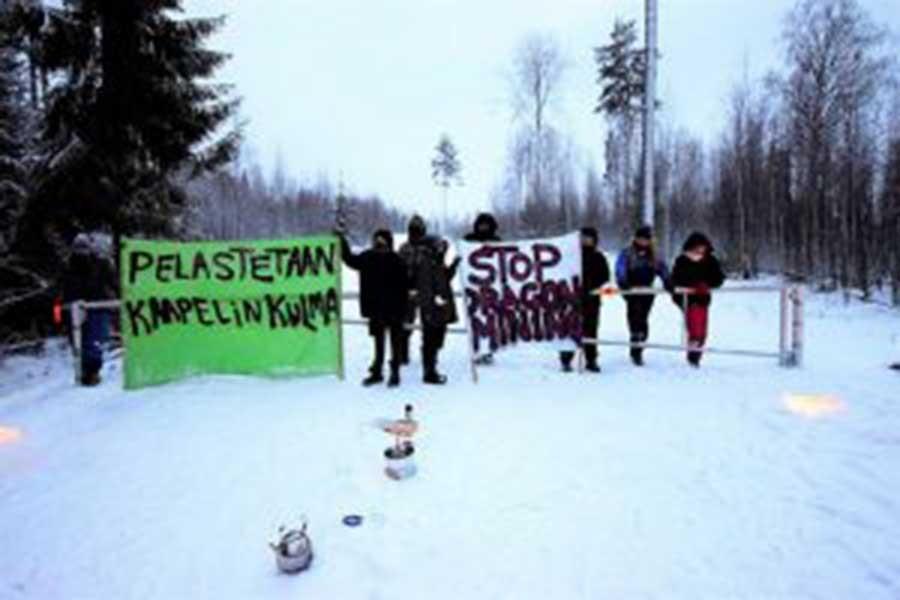 Finlandiya'da halk maden tekellerinin yağmasına 'Yeter' dedi