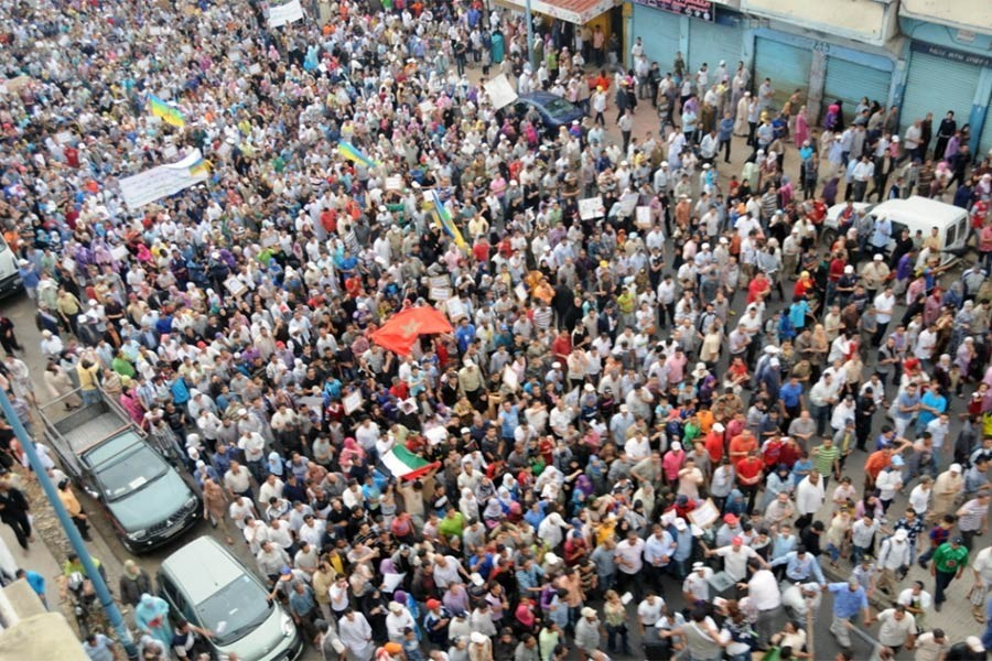 Fas'ta işçi ve emekçilerin ücret artışı talepli eylemleri sürüyor