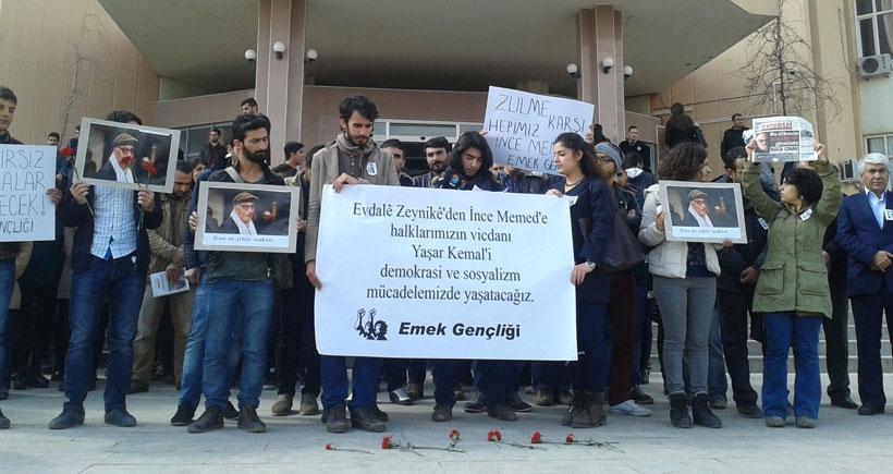Dicle Üniversitesi öğrencileri Yaşar Kemal'i andı
