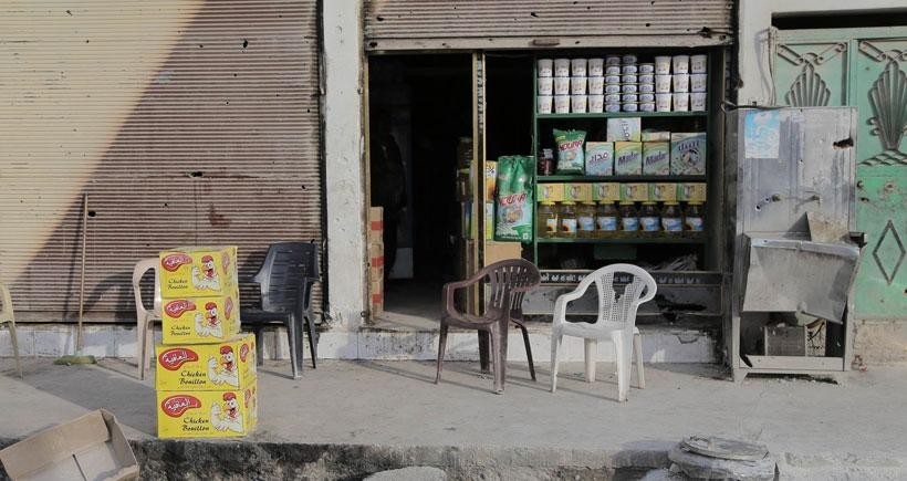Kobanê'de ilk market açıldı