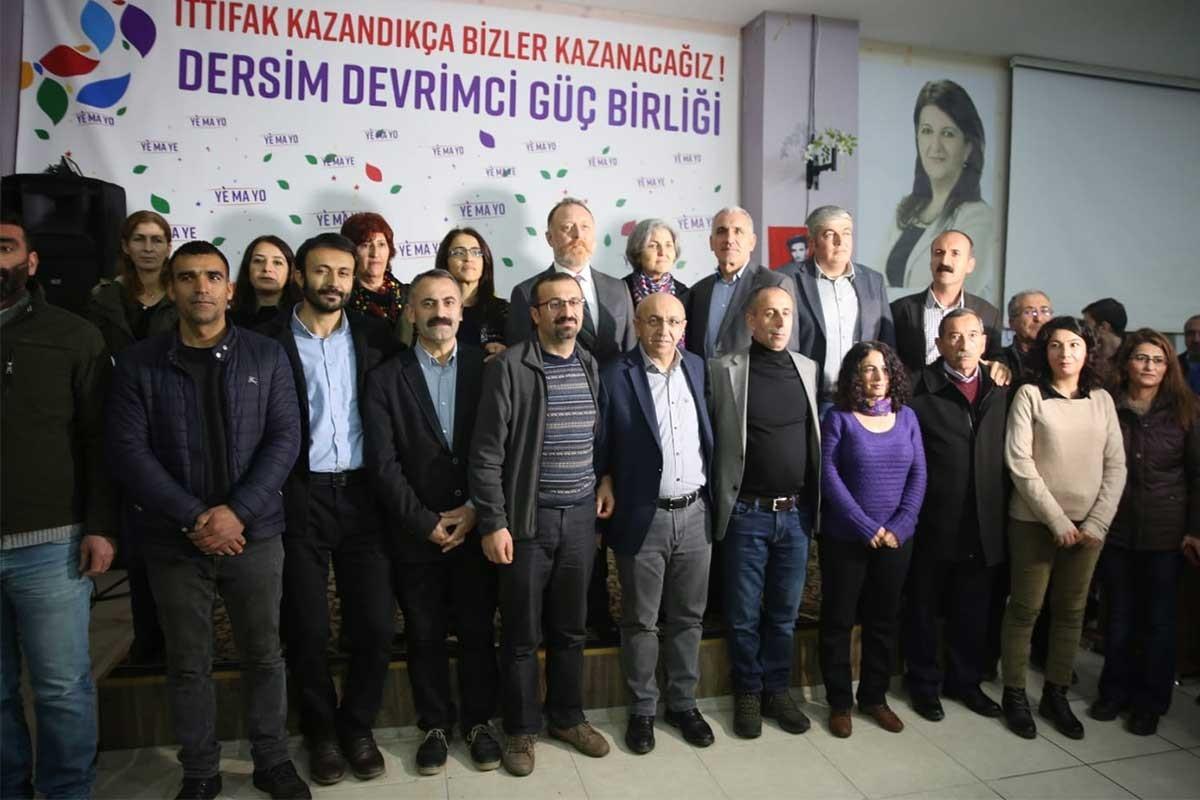 Dersim Devrimci Güç Birliği, belediye başkan adaylarını açıkladı
