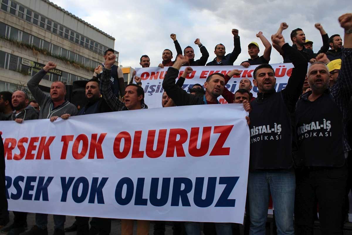 Şişecam işçileri: TİS görüşmelerinde geri adımı kabul etmeyeceğiz