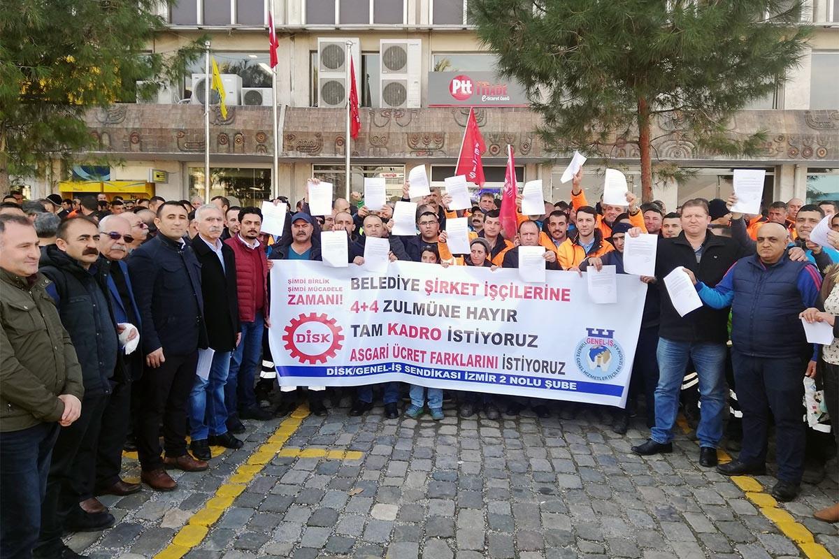 Belediye işçileri: Asgari ücret zammı için mücadele edeceğiz