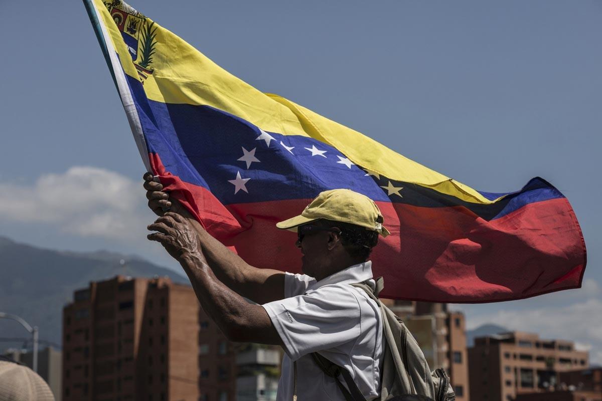 Venezuela'da bir Maduro destekçisi