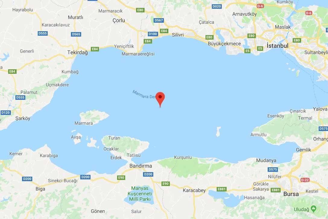 Marmara Denizi'nde 3.2 büyüklüğünde deprem