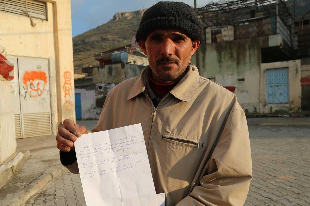 Mardin'de mülteci ailelere mermili tehdit mektubu
