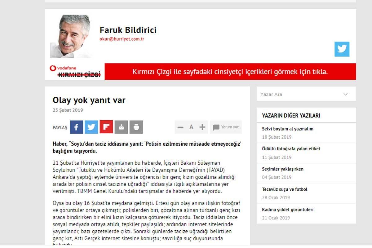 Hürriyet Okur Temsilcisi'nden gazetesine eleştiri: Tarafsız olunmadı