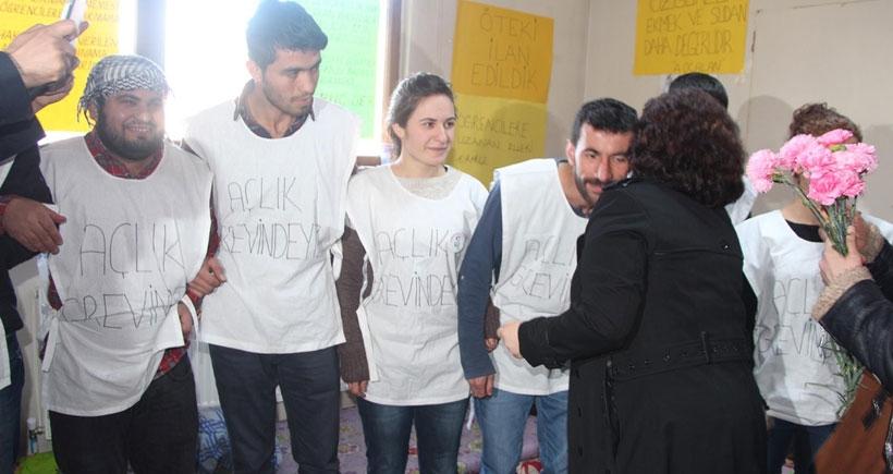 DBP'den açlık grevindeki öğrencilere destek