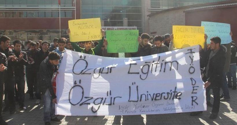 Iğdır'da üniversitelerdeki saldırılara kınama