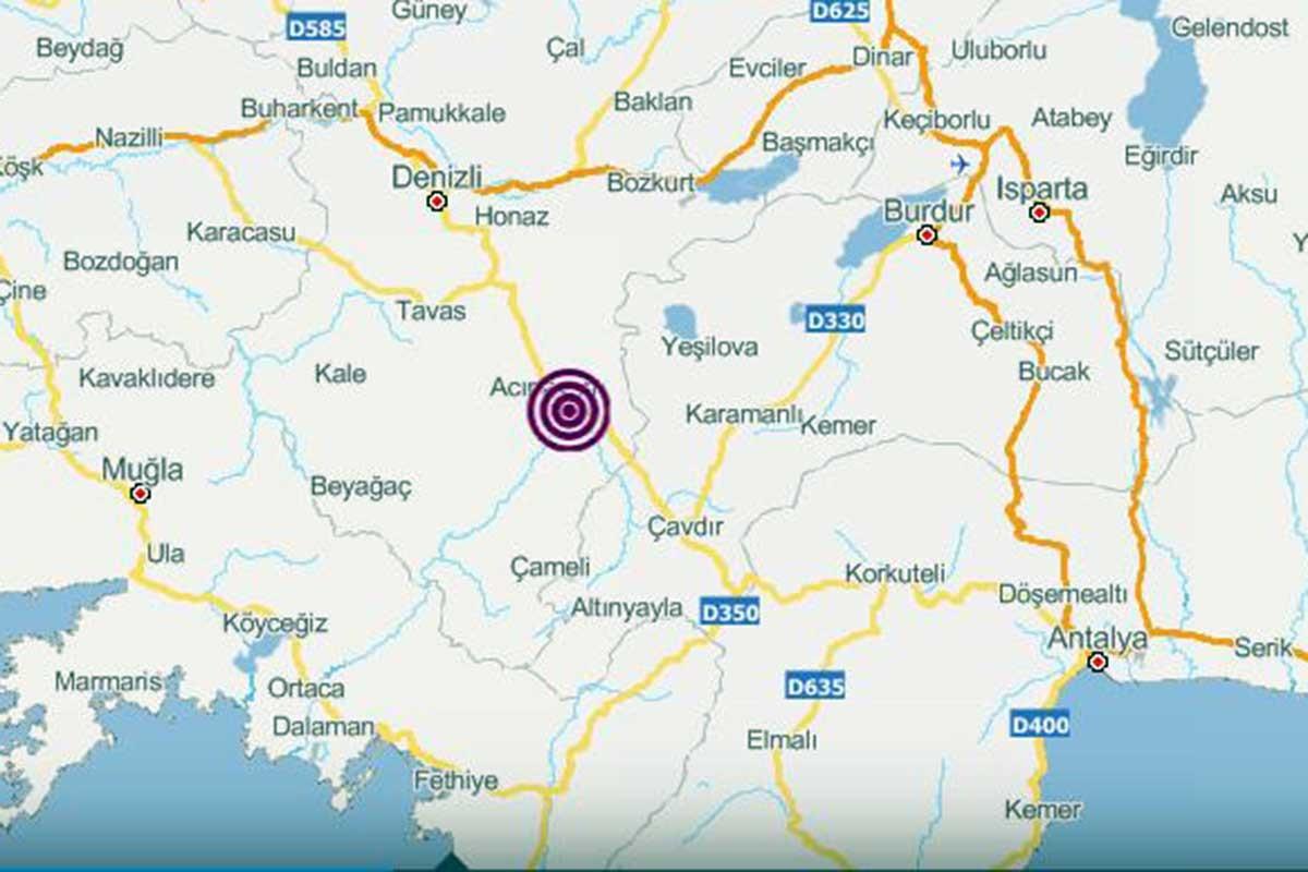 Denizli Acıpayam'da 4.1 büyüklüğünde deprem