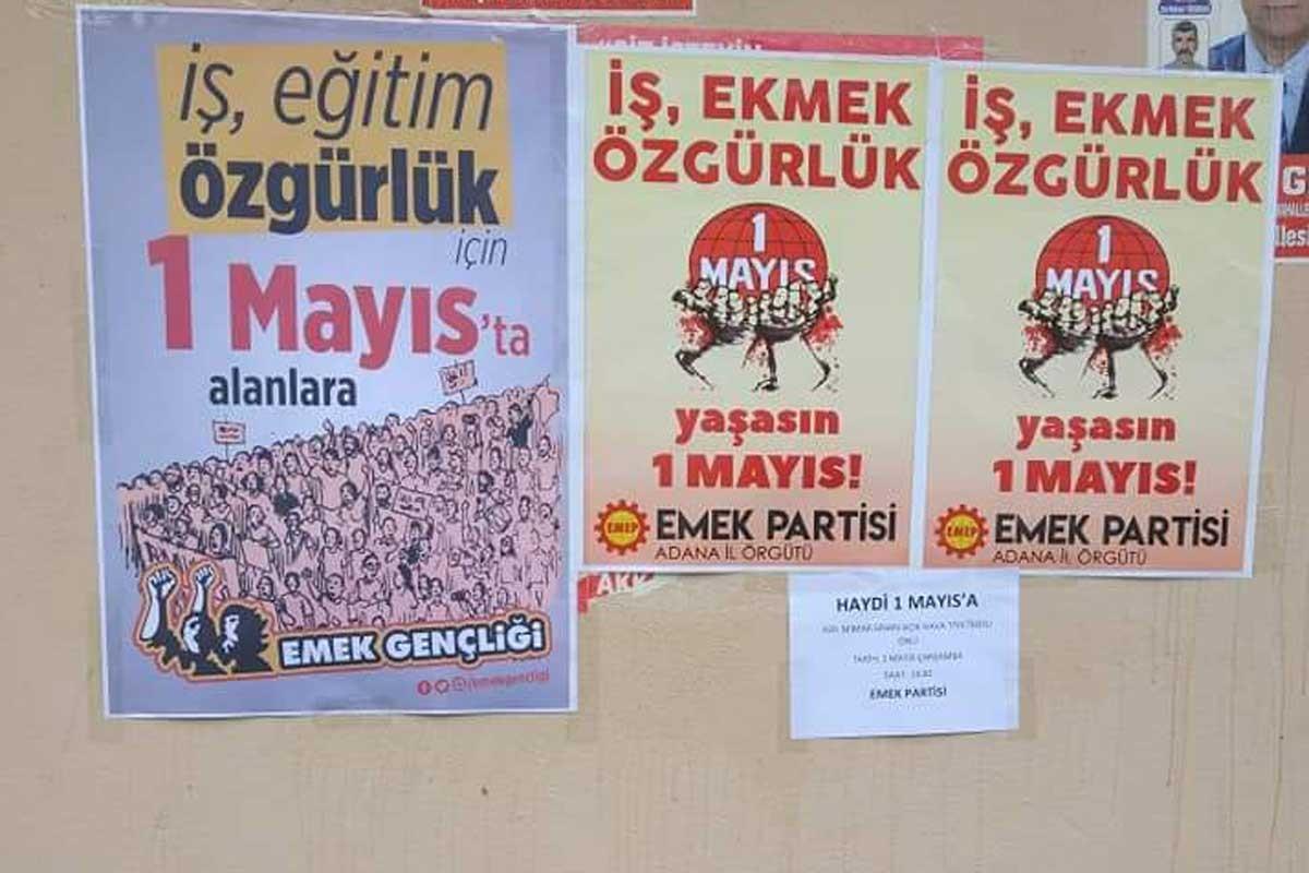 Adana'da 1 Mayıs çalışmaları engelleniyor