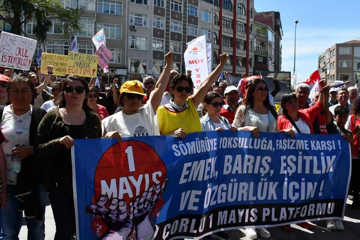 Trakya'da 1 Mayıs: Hak gasplarına karşı mücadele çağrısı