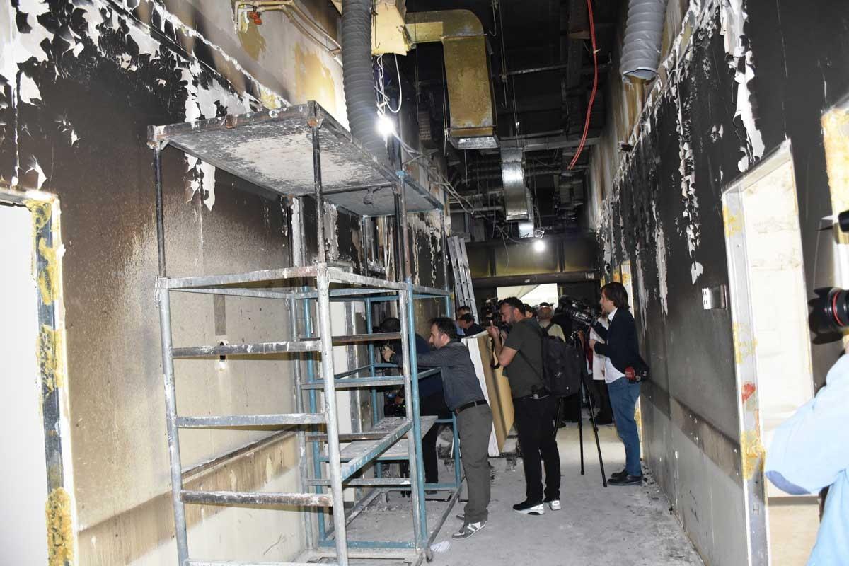 İnönü Üniversitesinde profesörün odasını yakan hasta yakını tutuklandı