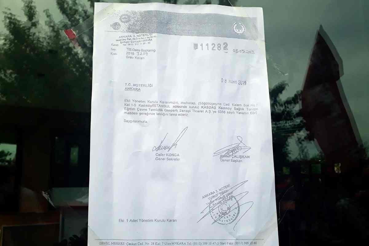 Genel-İş ile Kadıköy Belediyesi arasında anlaşma sağlanamayınca belediyeye grev kararı asıldı