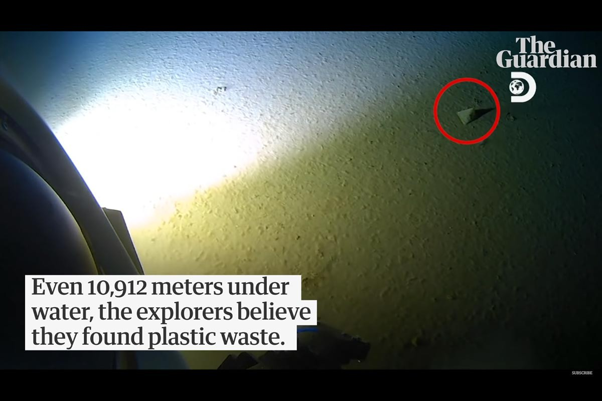 Mariana Çukuru'nda 11 kilometre derine inen Vescovo plastik buldu