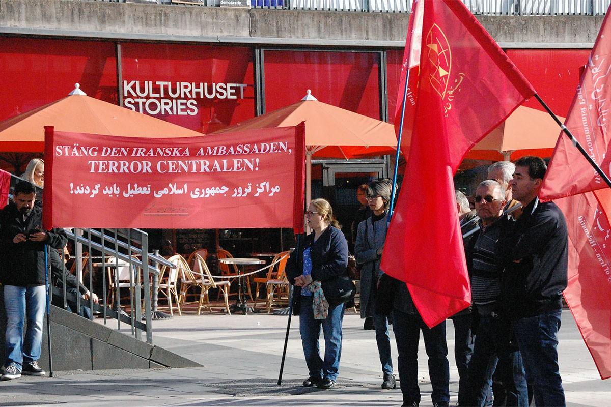 İsveç'te İranlı işçilerle dayanışma eylemi