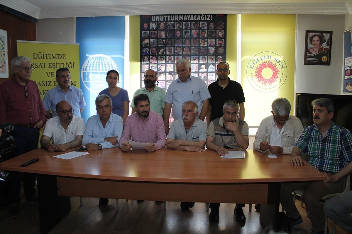 Adana'da KHK'li olduğu için mazbatası alınan emekçiler tepkili