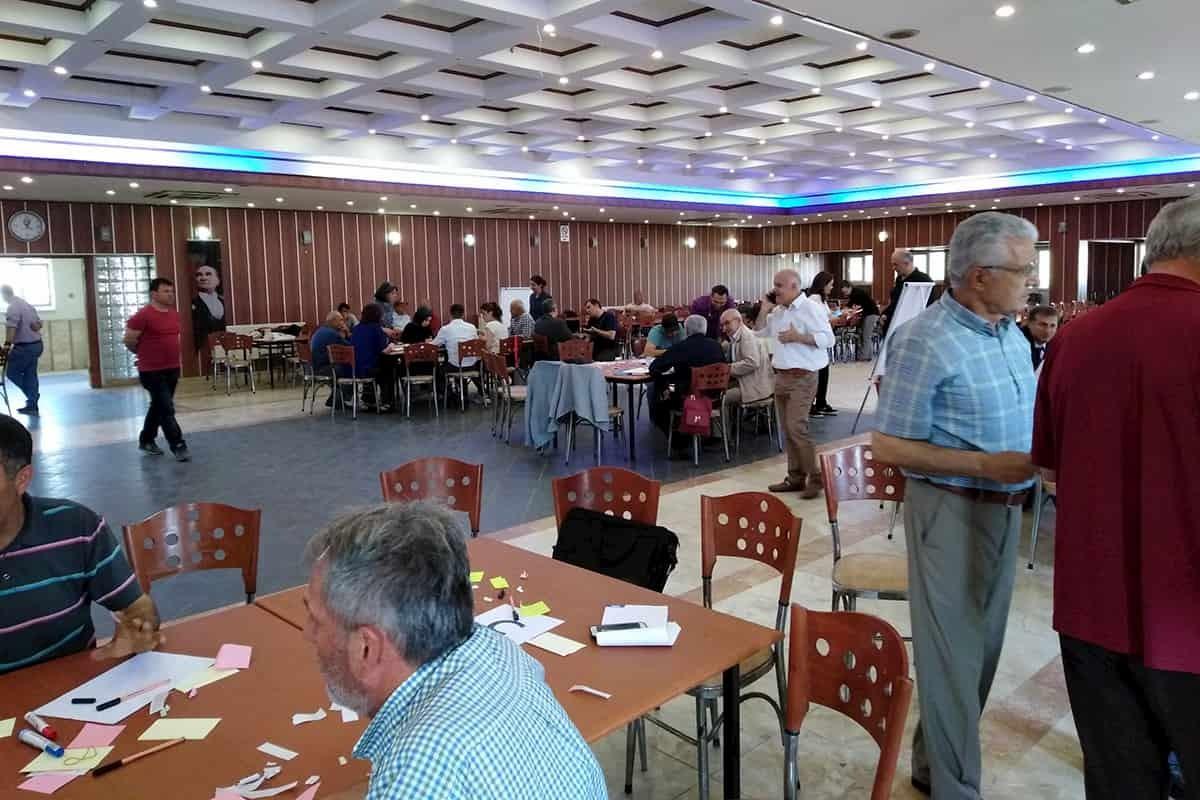 Sarayköy halkı, 'JES istemiyoruz' diyerek yapılan toplantıya tepki gösterdi