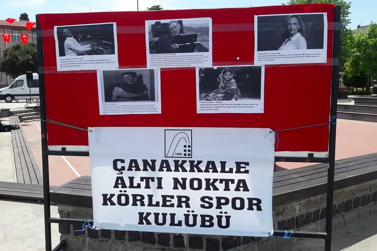 Çanakkale'de 10-16 Mayıs Engelliler Haftası kapsamında Altı Nokta Körler Derneği etkinlikler düzenledi