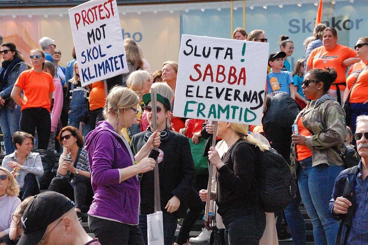 İsveç öğretmenler eylem