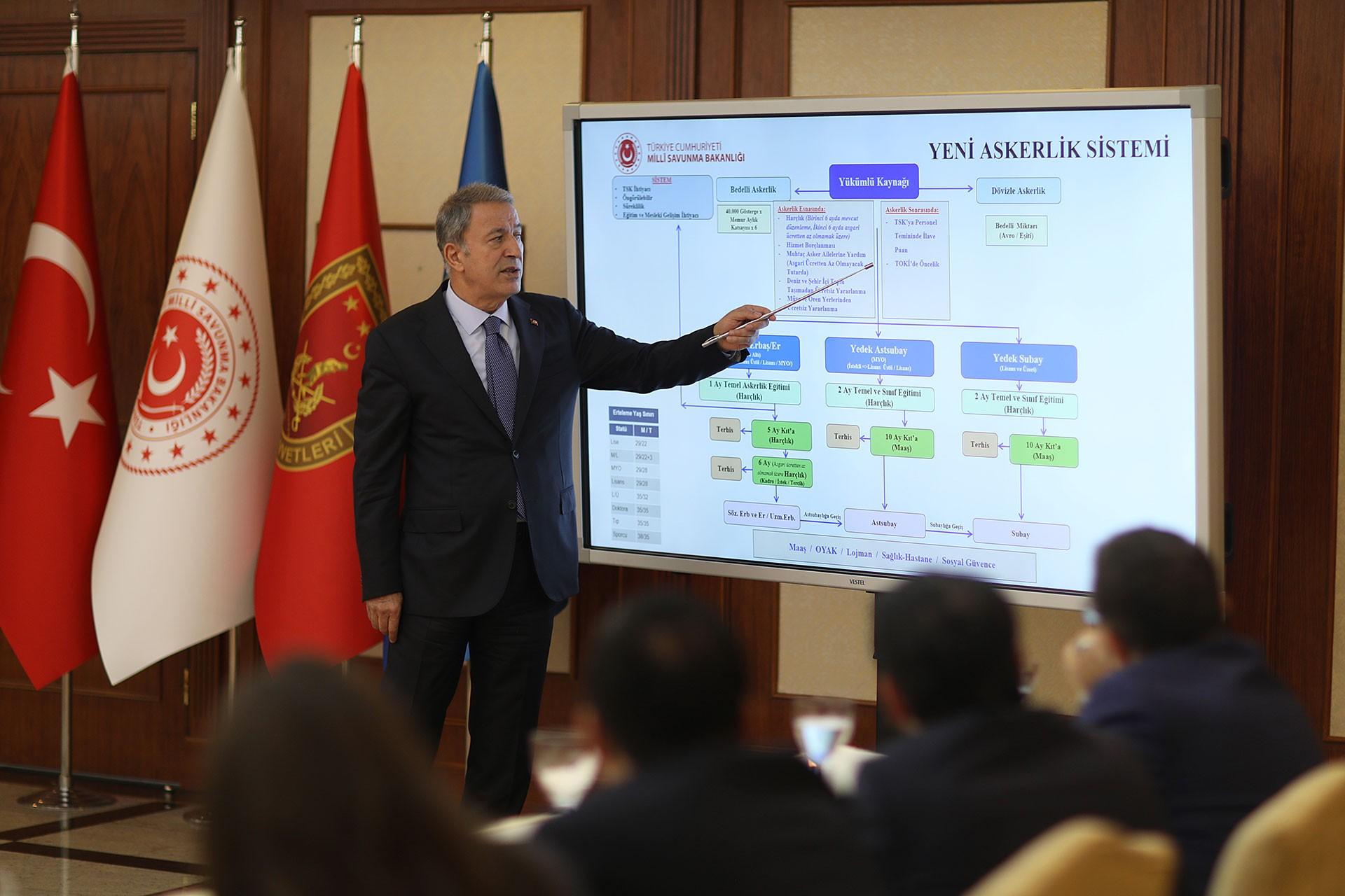 Milli Savunma Bakanı Hulusi Akar, yeni askerlik sistemini anlattı