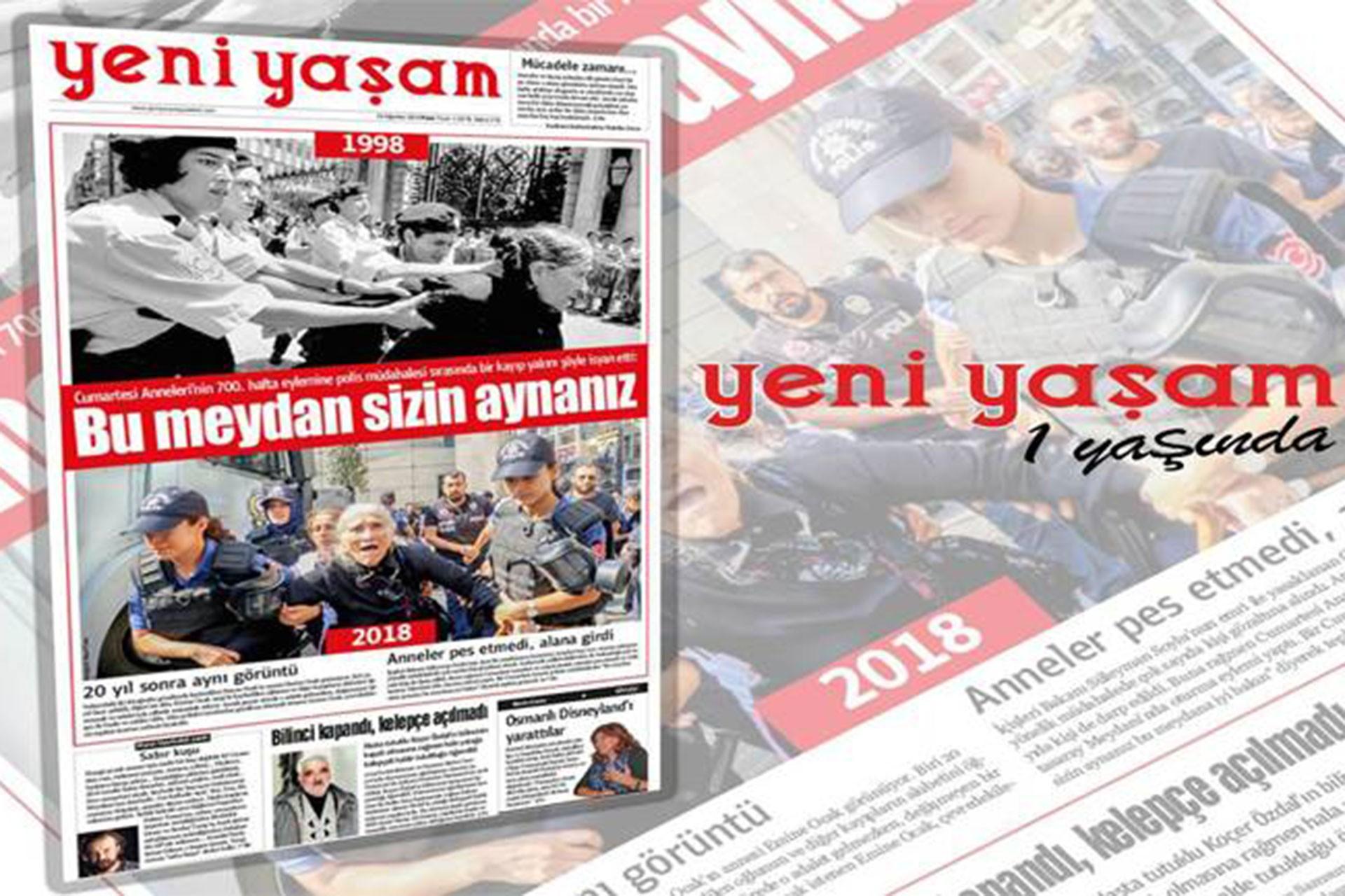 Yeni Yaşam Gazetesi 1 yaşında!