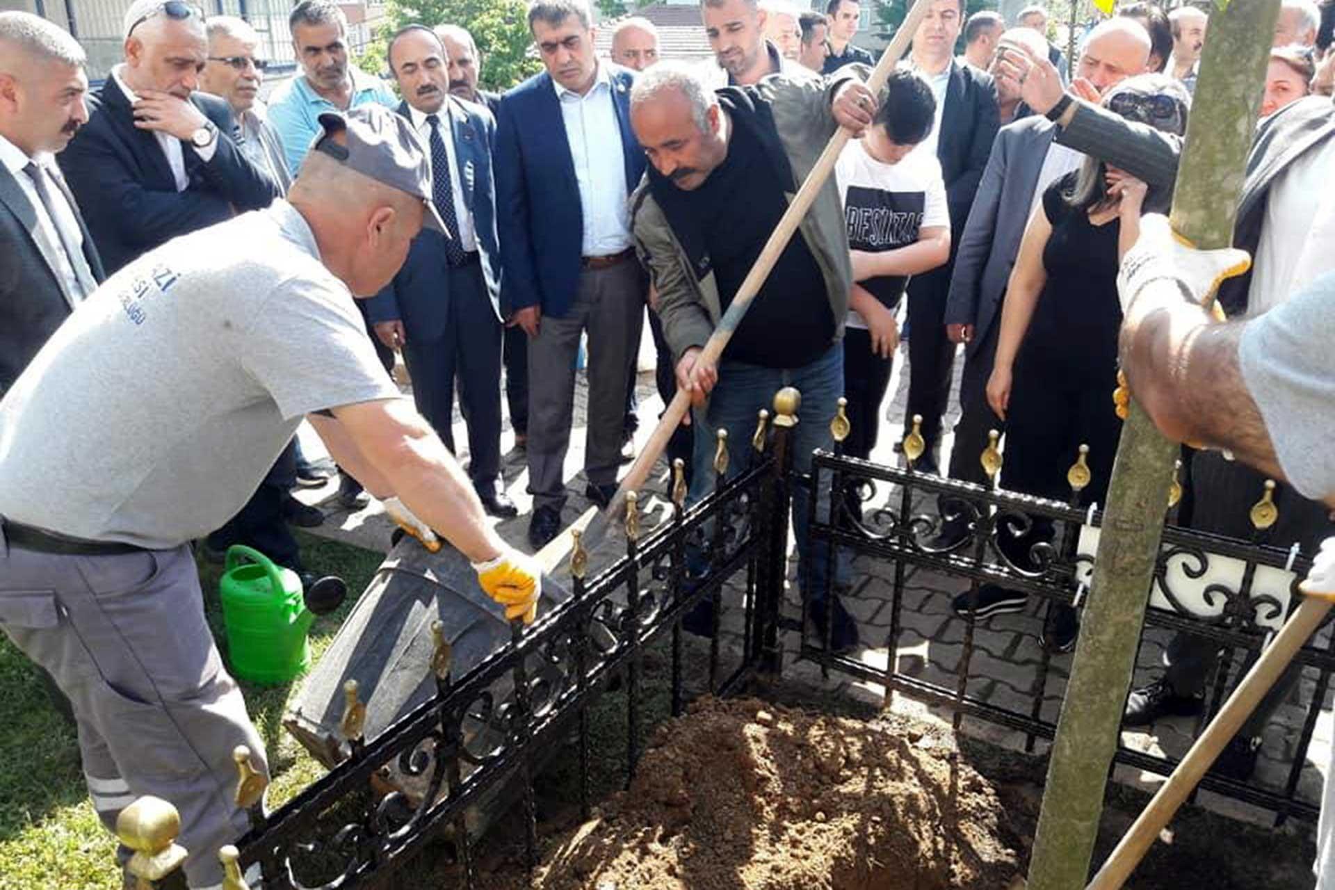 Sokakta yürürken tabancayla vurulan Ahmet'in anısına doğum gününde 21 fidan