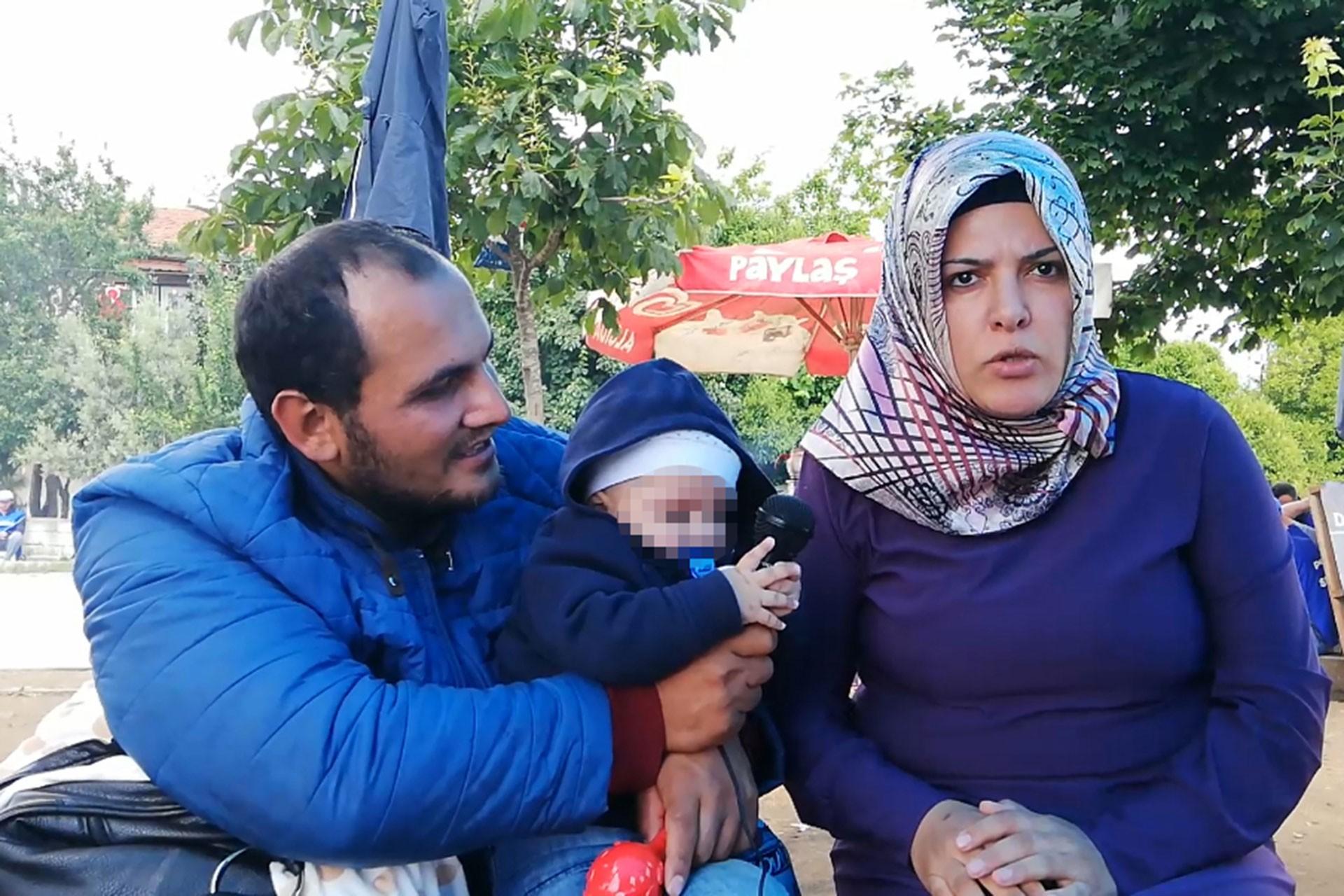 7 aylık bebeği ile birlikte darbedilen Tekkan ailesi