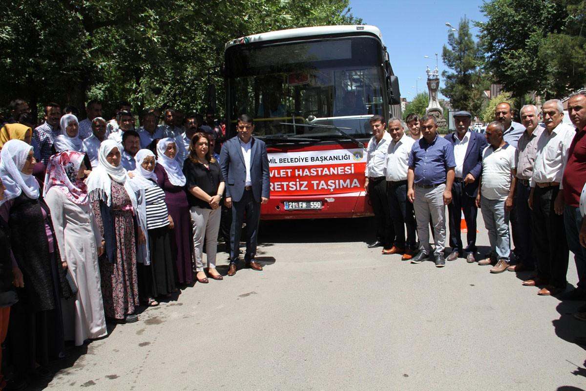 Diyarbakır Bismil'de ücretsiz hastane servisi tekrar başladı