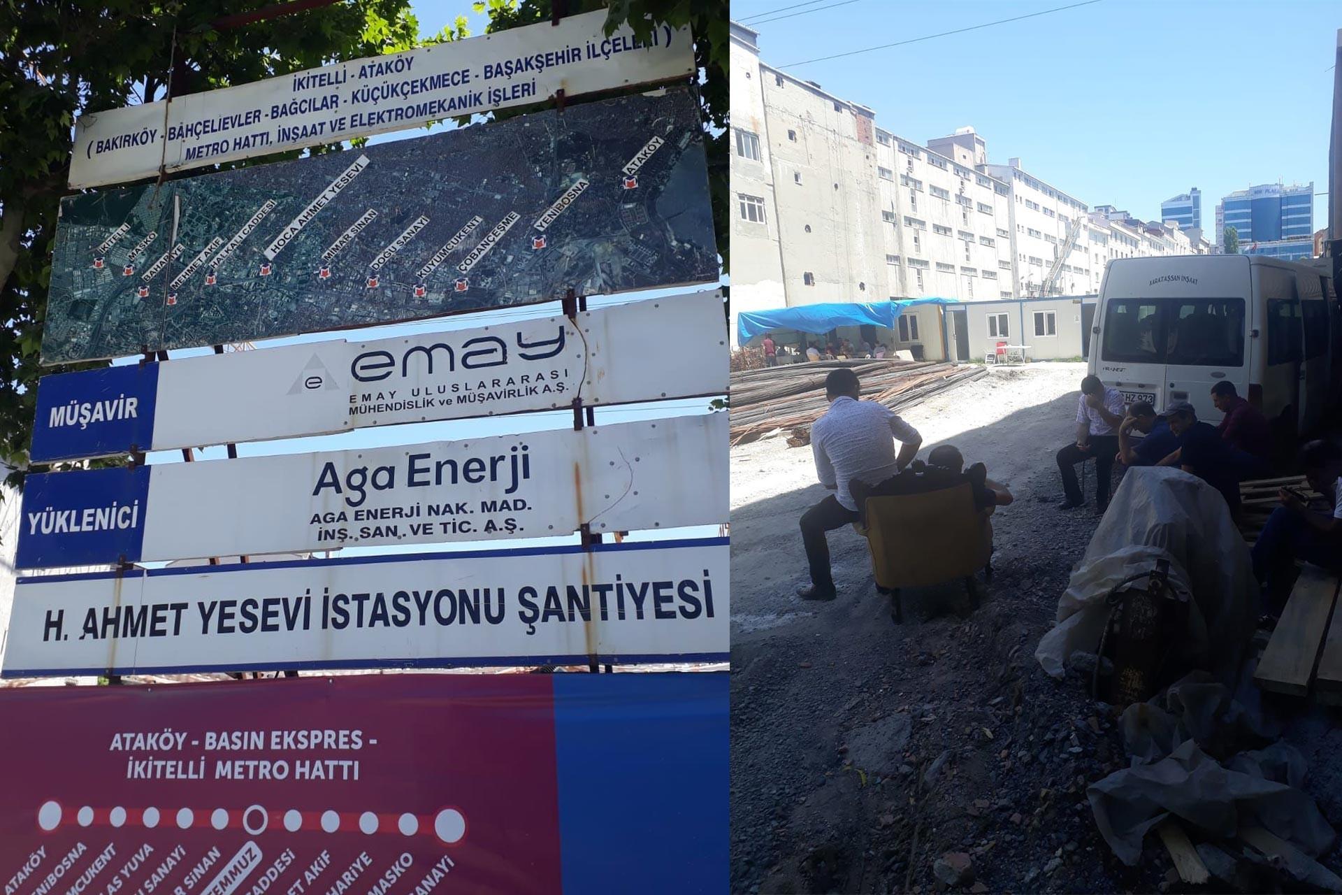 İkitelli-Ataköy metro inşaatında çalışan işçilerin ücretleri 2 aydır ödenmiyor